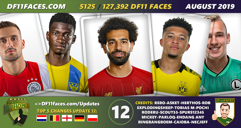 DF11 Faces Update 12/Augustus - Football Manager 2019/2020
