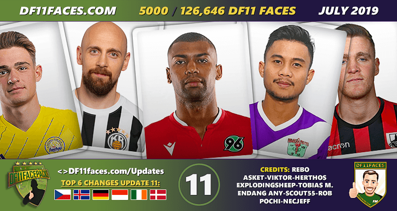 DF11 Faces Update 11/Juli - Football Manager 2019/2020