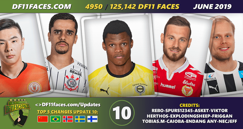 DF11 Faces Update 10/Juni - Football Manager 2019